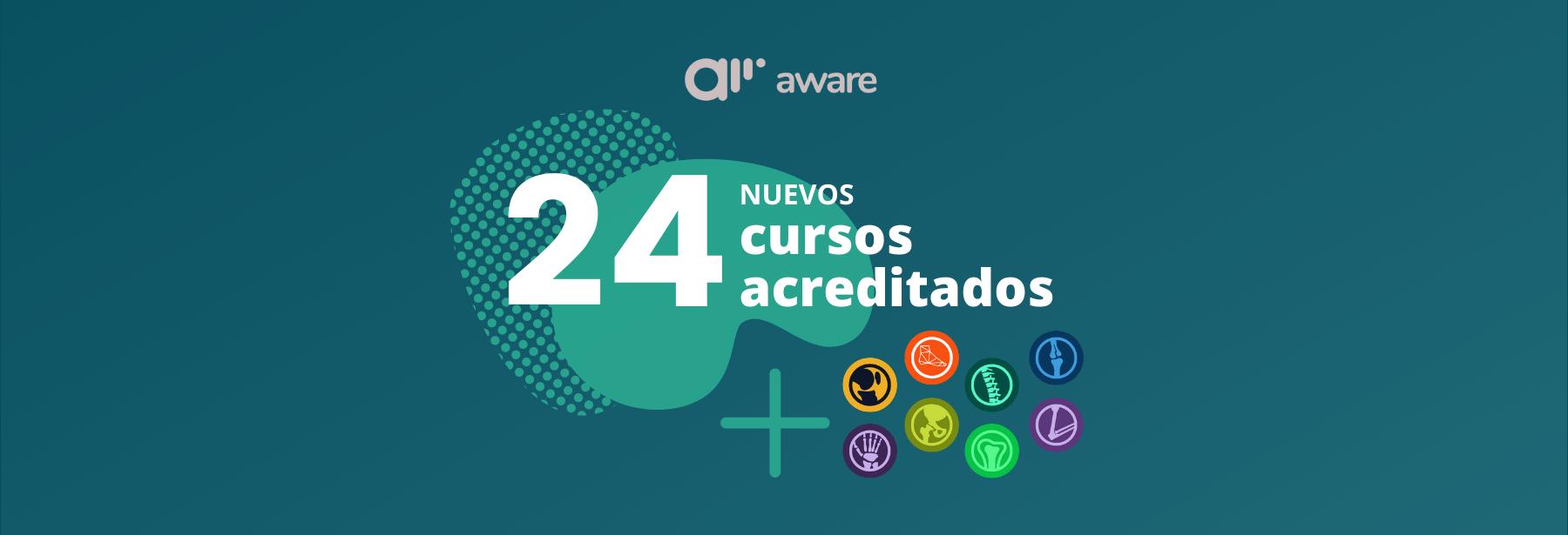 24 nuevos cursos reciben acreditaciones en aware.doctor
