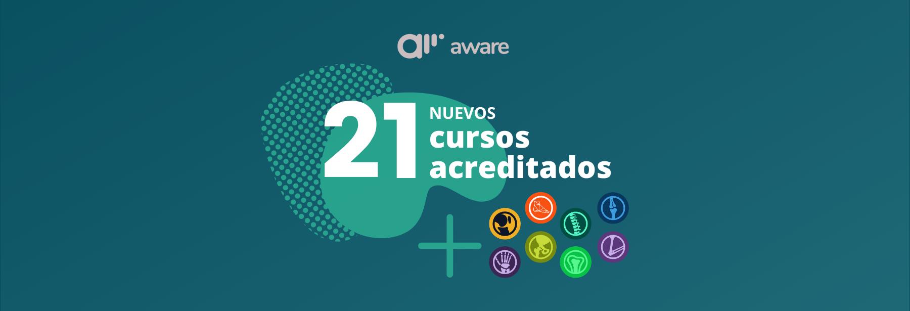 21 nuevos cursos reciben acreditaciones en aware.doctor