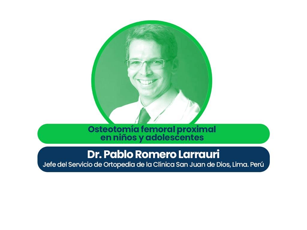 Dr. Pablo Romero Larrauri