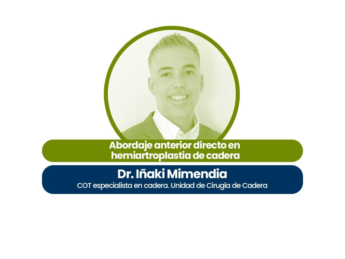 Dr. Iñaki Mimendia